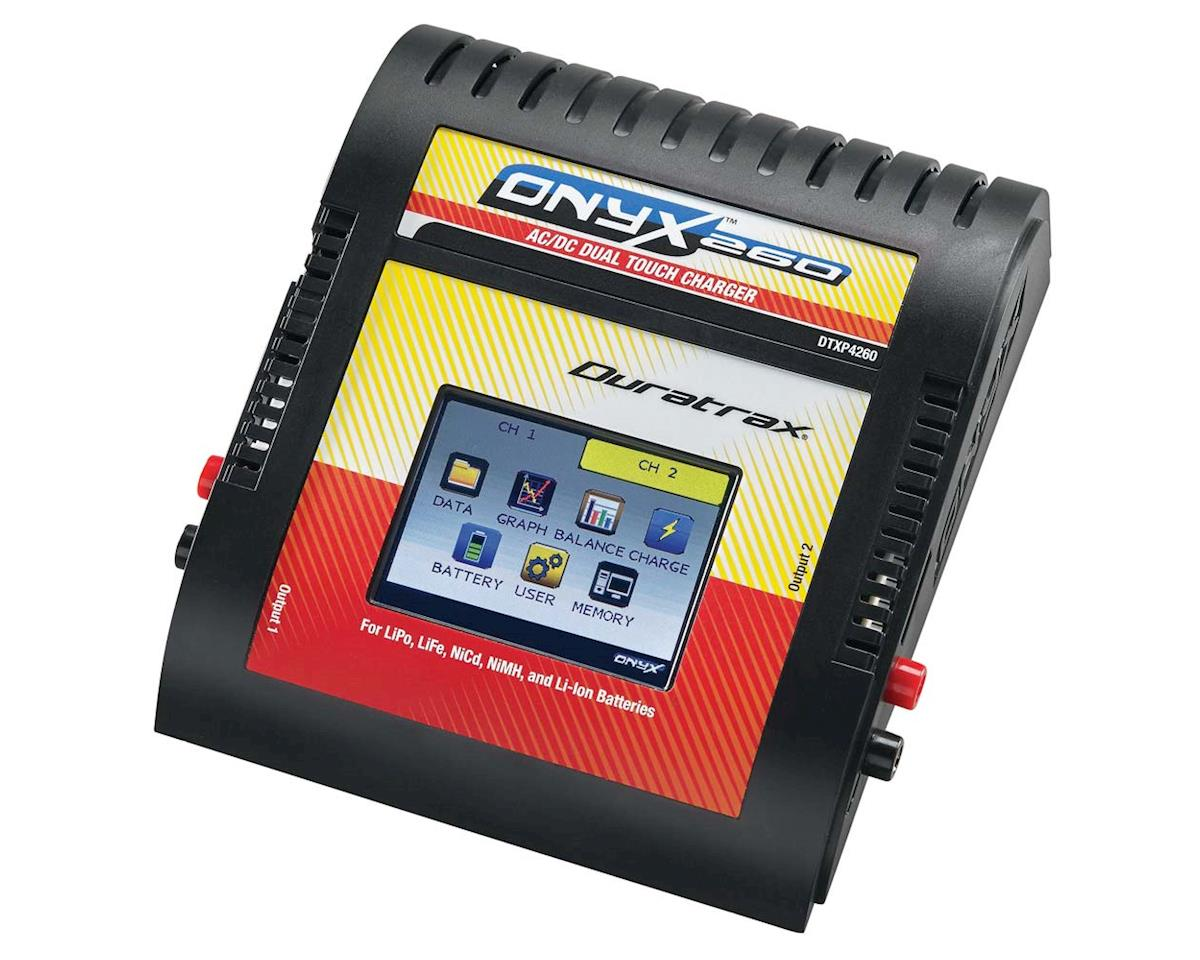 DuraTrax Onyx 260 AC/DC Dual Touch LiPo Battery Balance Charger (6S/6A/60W x 2)