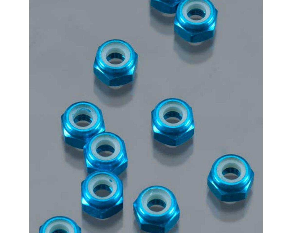 DuraTrax 3mm Aluminum Locknut (Blue) (10)