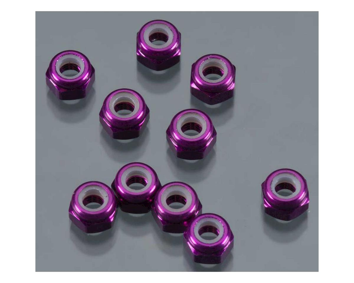 DuraTrax 3mm Aluminum Locknut (Purple) (10)
