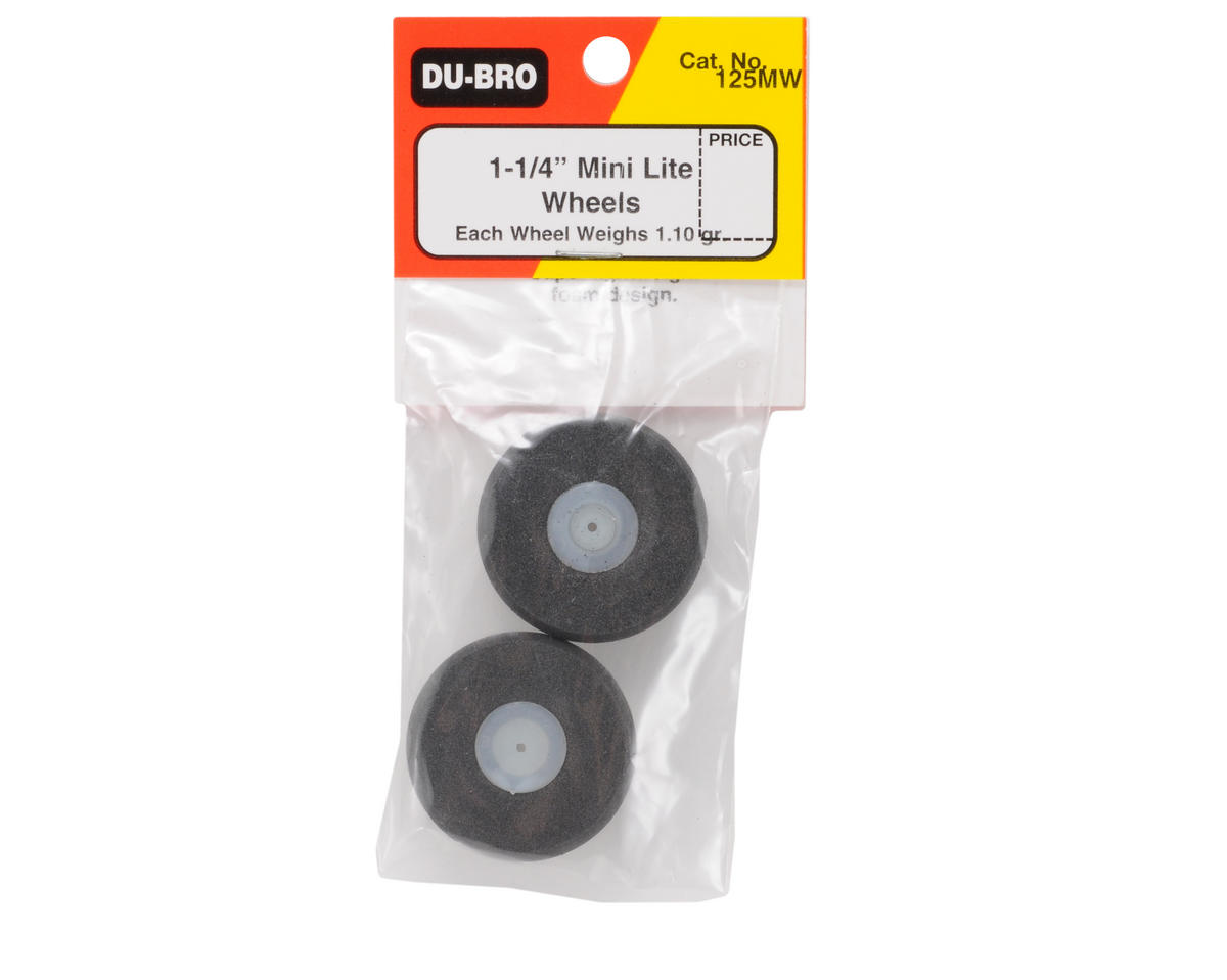 "DuBro 1-1/4"" Mini Lite Wheels (2)"