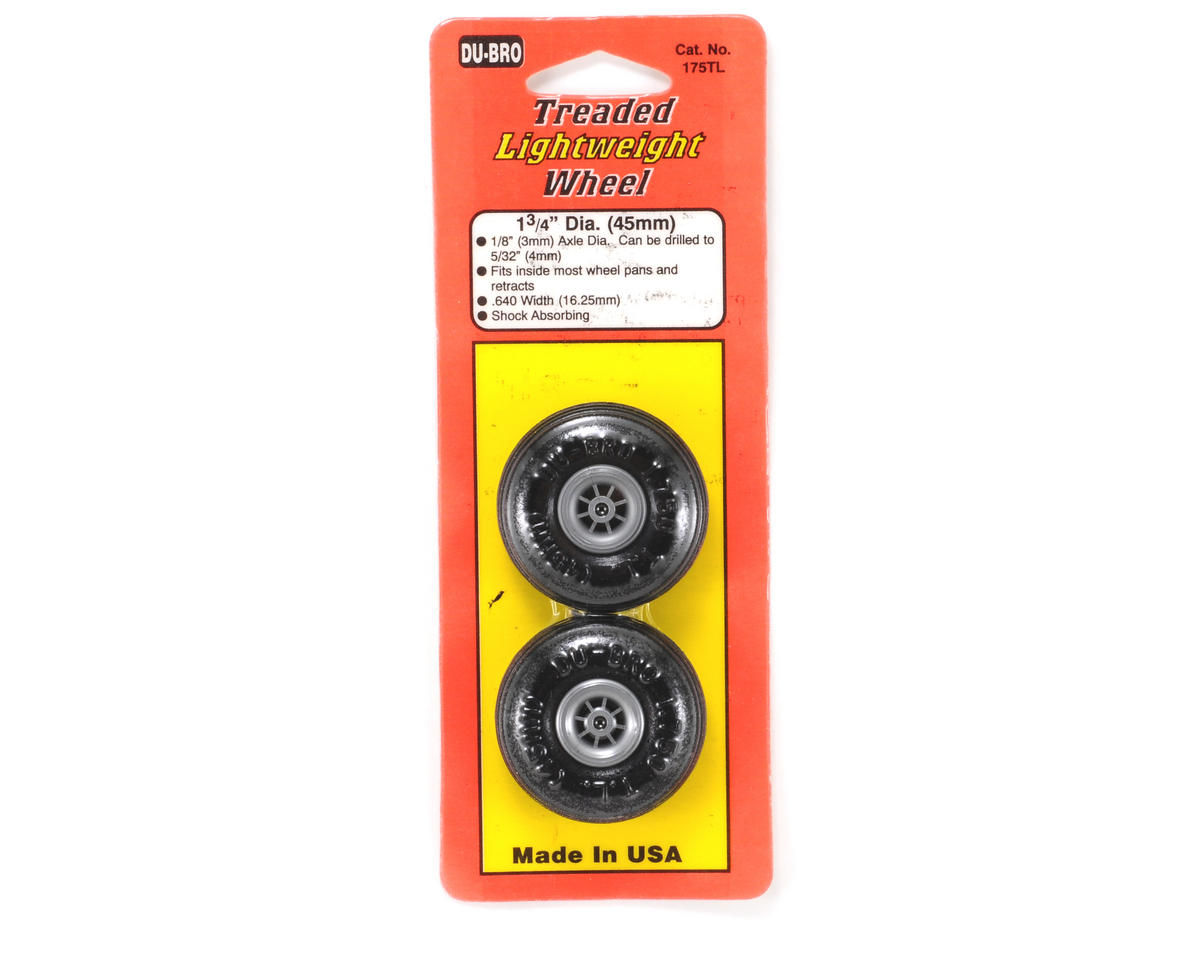 "Du-Bro 1-3/4"" Treaded Lite Wheel (2)"
