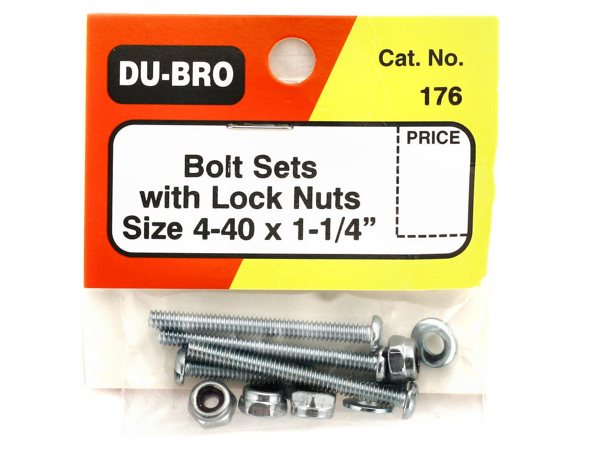 "DuBro Bolt & Lock Nut Set (4-40 x 1 1/4"")"