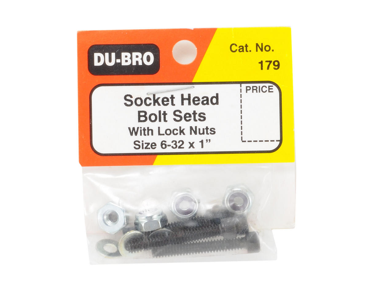 "DuBro Socket Bolts w/Nuts (6-32 x 1"")"