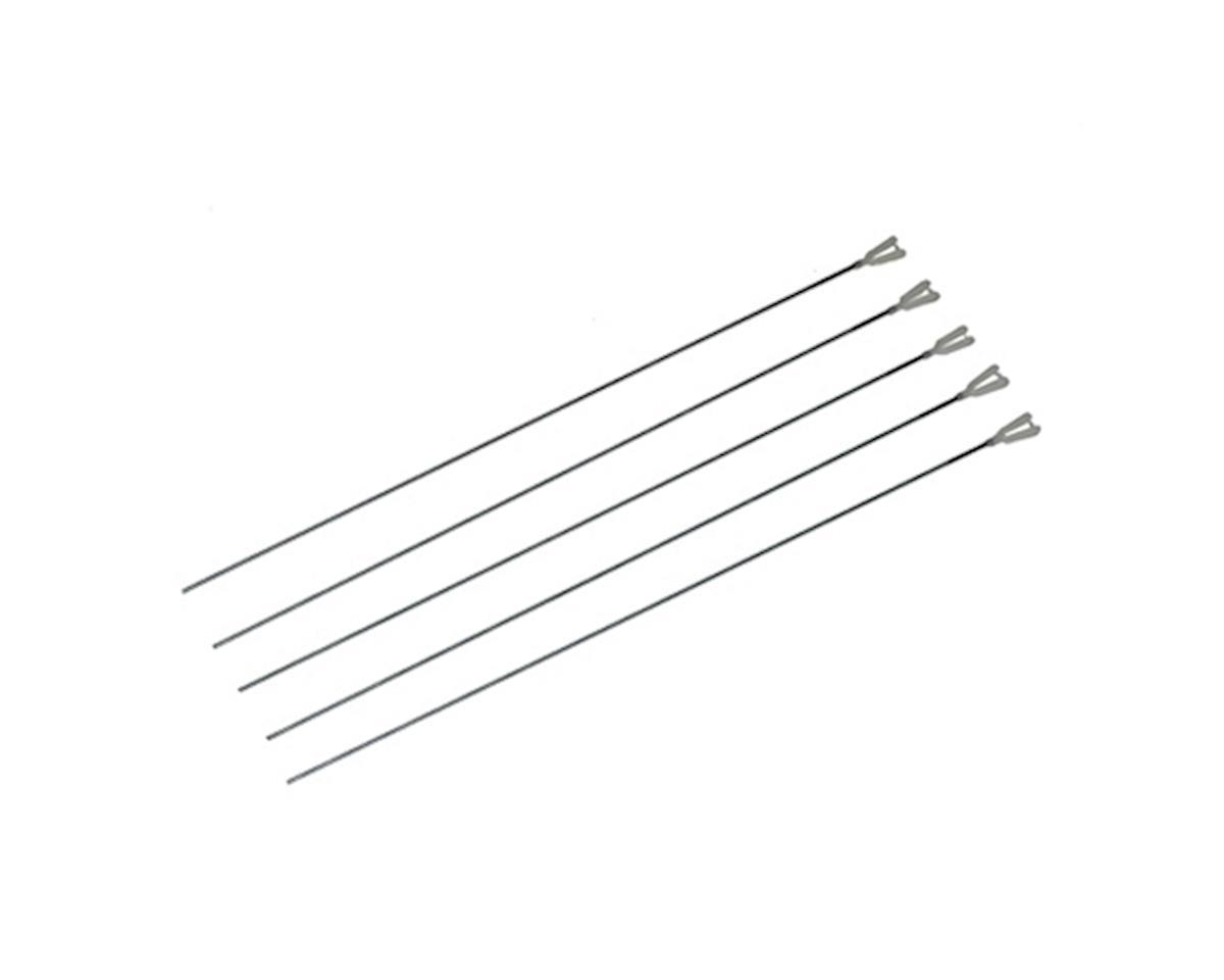 "12"" 2-56 Rod w/ Nylon Kwik-Link (5) by DuBro"