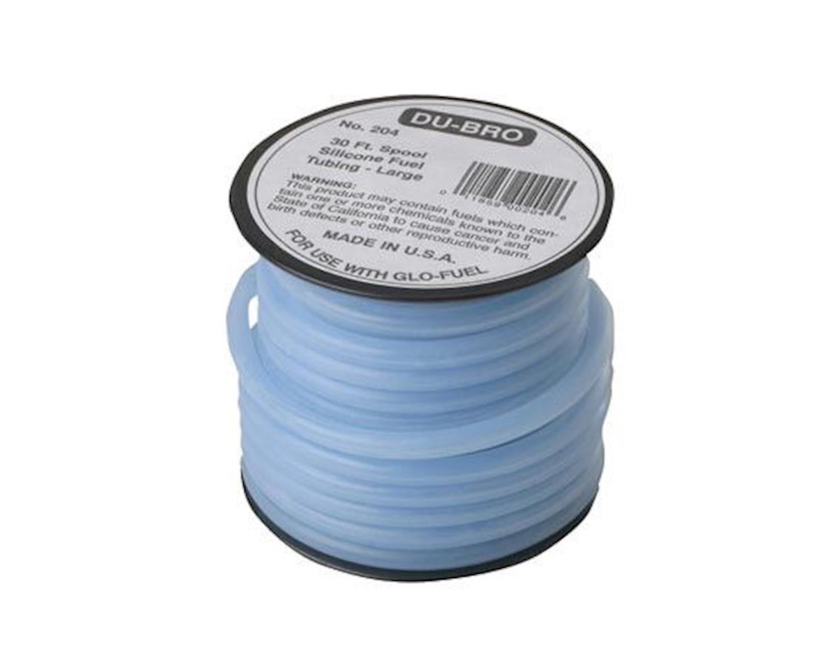 DuBro Large Silicone Fuel Tubing (Blue) (30')