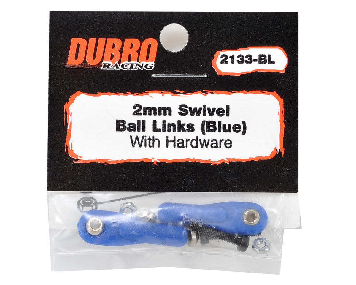 "Du-Bro 2mm x 1/2"" Ball Link (Blue) (2)"