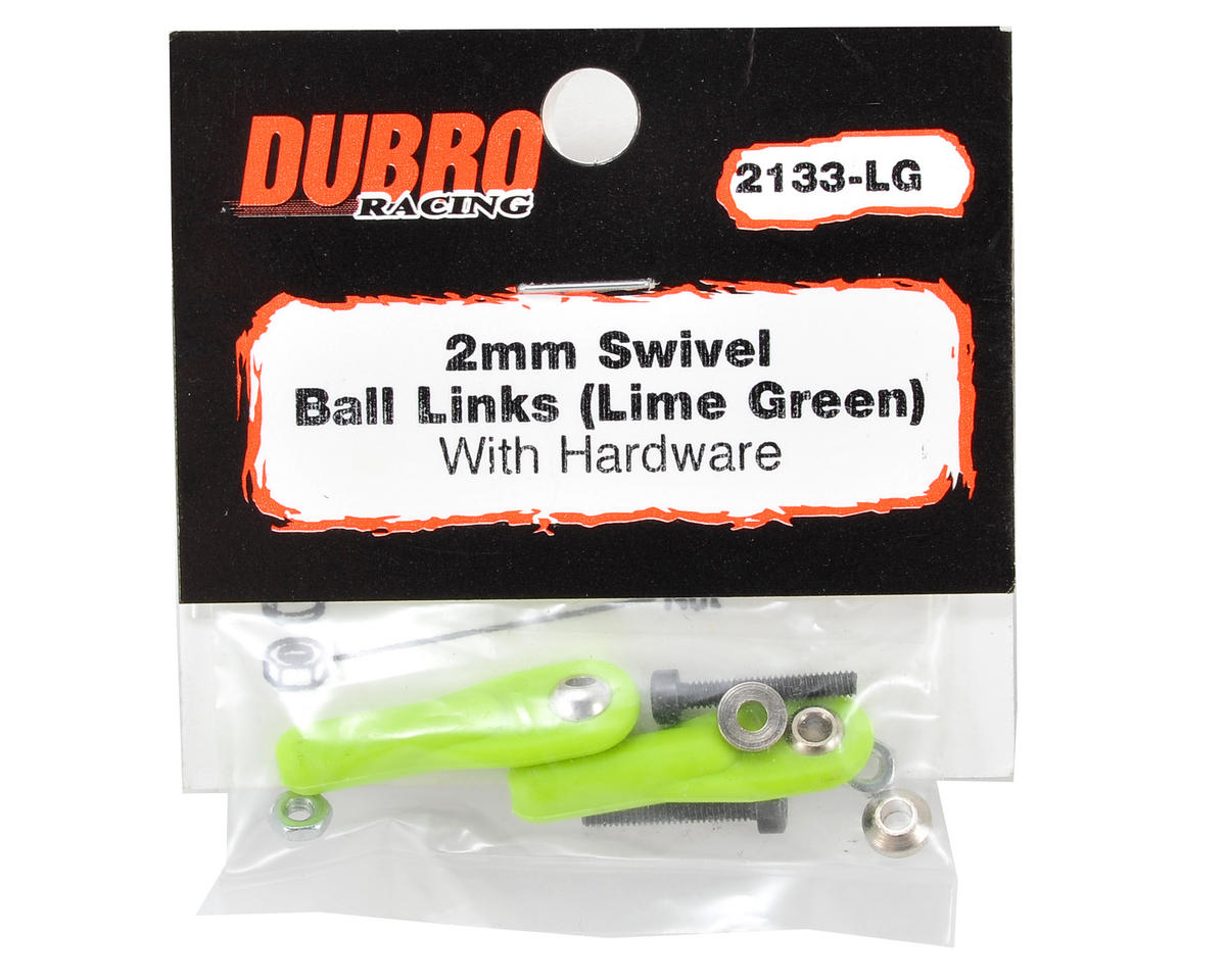 "Du-Bro 2mm x 1/2"" Ball Link (Lime Green) (2)"