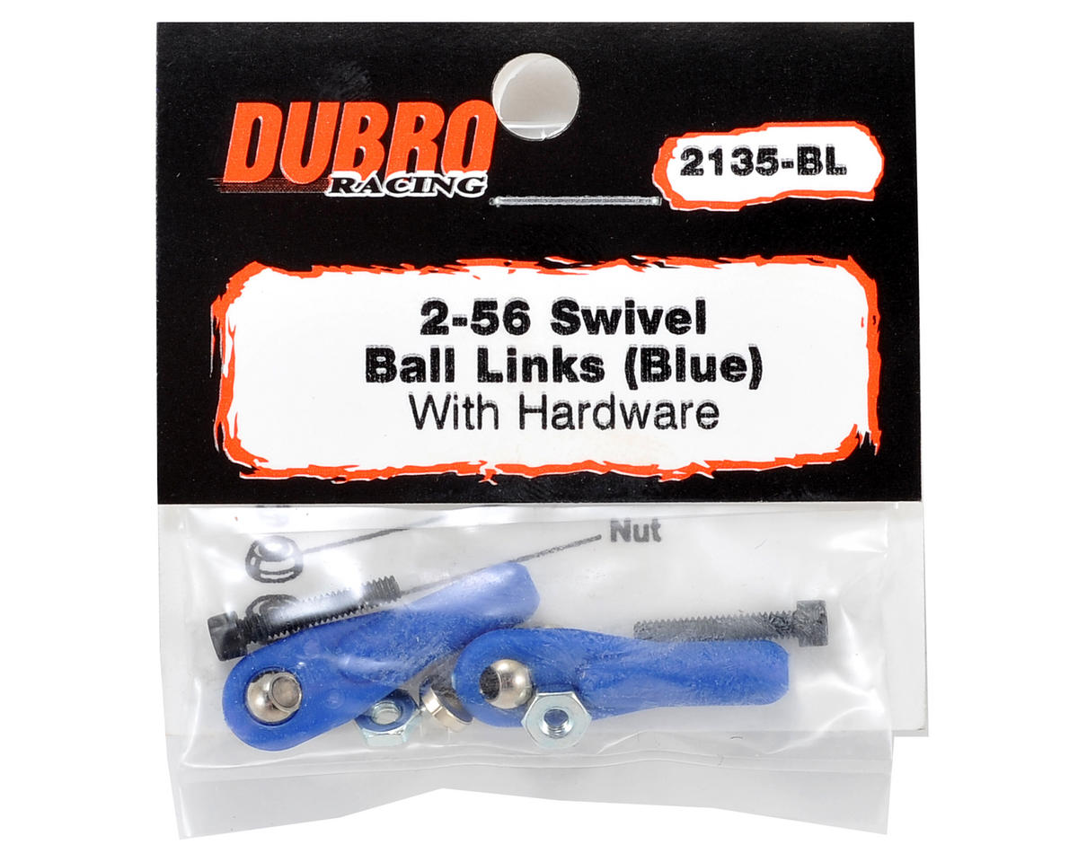 "Du-Bro 2-56 x 1/2"" Ball Link (Blue) (2)"
