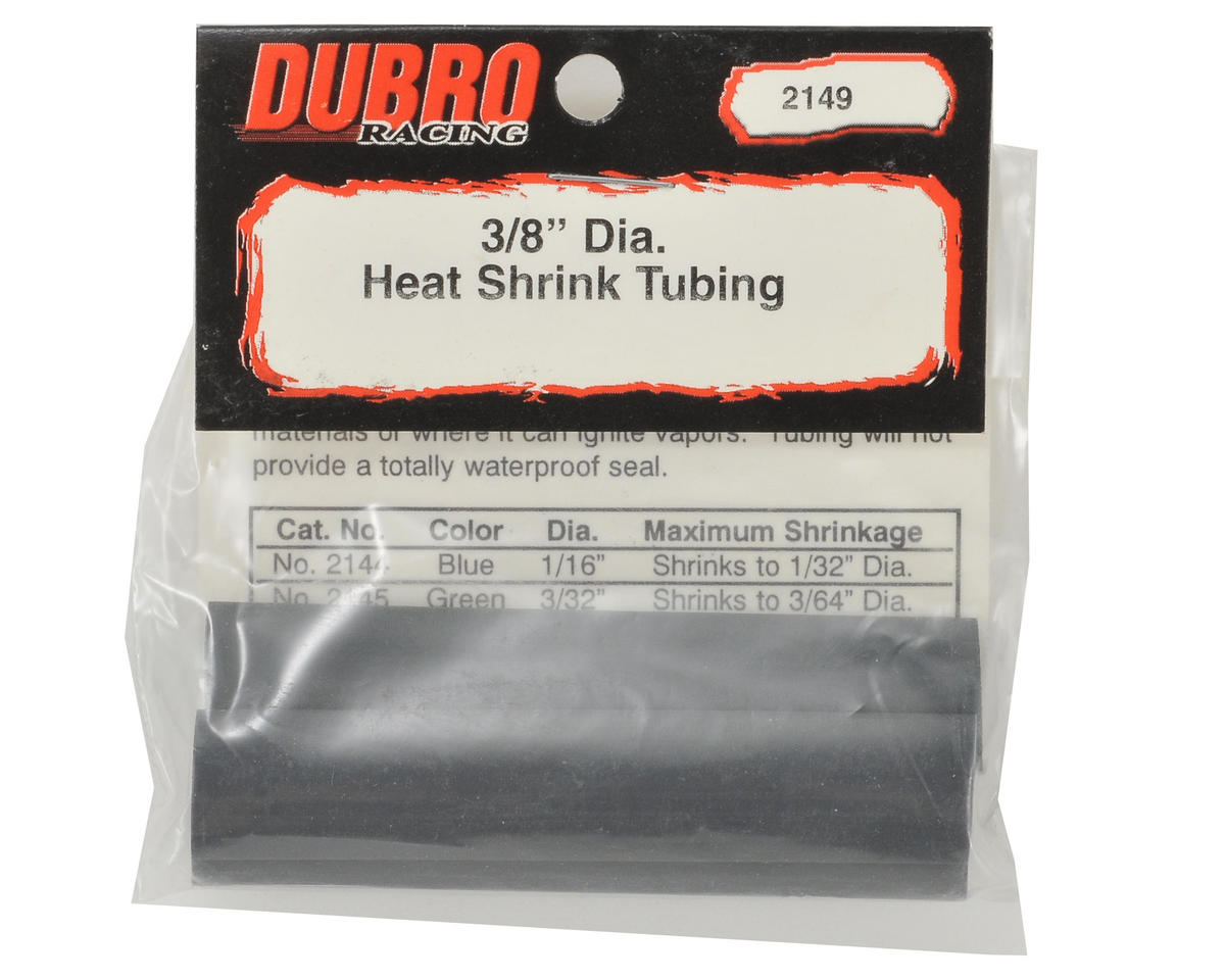 "Du-Bro 3/8"" Heat Shrink Tubing (Black) (3)"