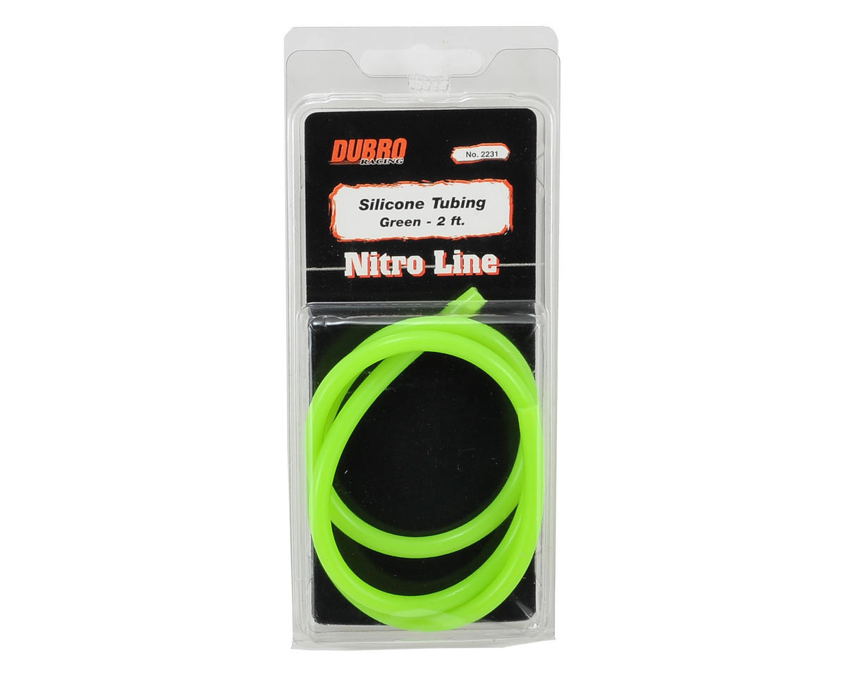 """Nitro Line"" Silicone Fuel Tubing (Green) (61cm) by DuBro"