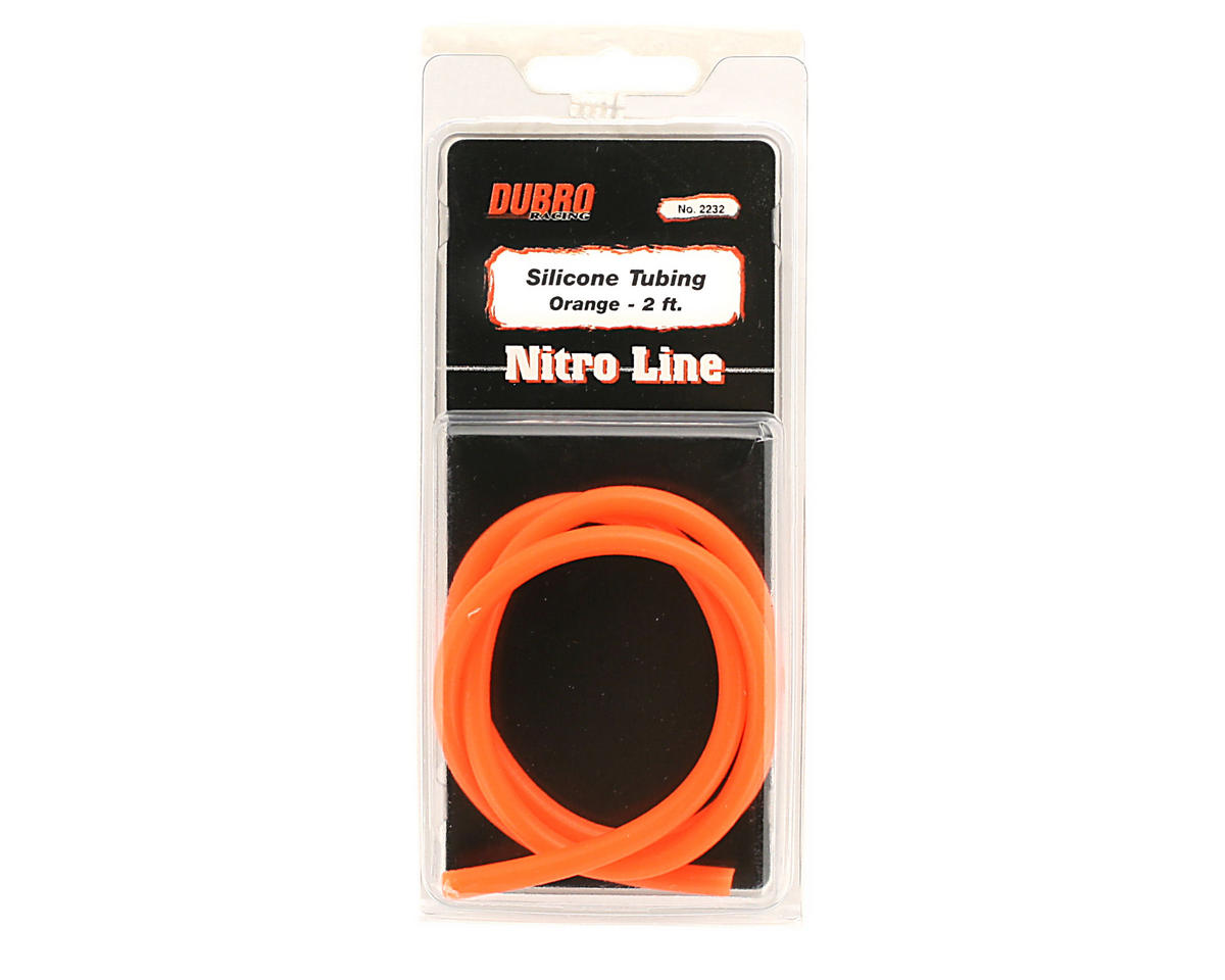 """Nitro Line"" Silicone Fuel Tubing (Orange) (61cm) by DuBro"