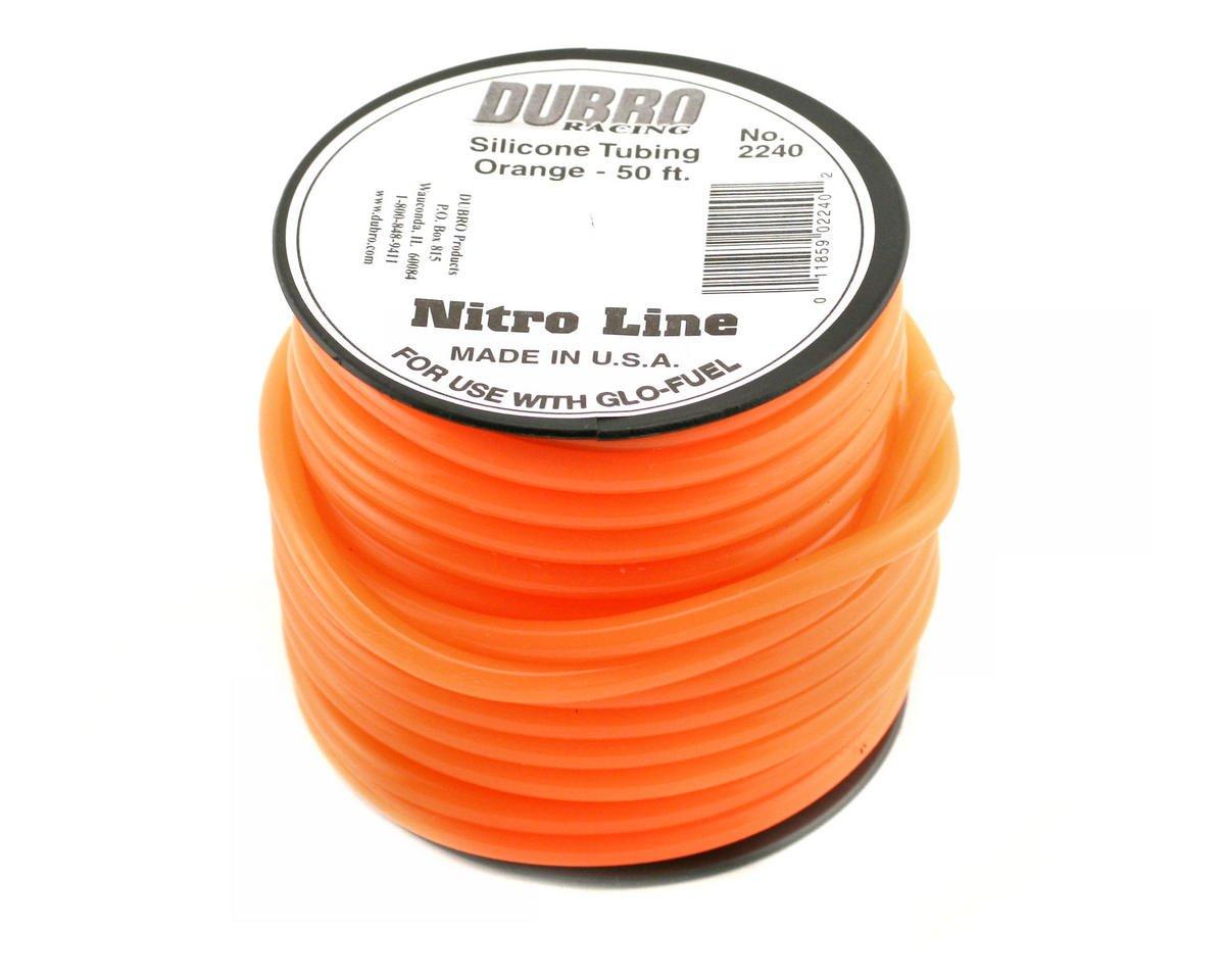 """Nitro Line"" Silicone Fuel Tubing (Orange) (50') by DuBro"