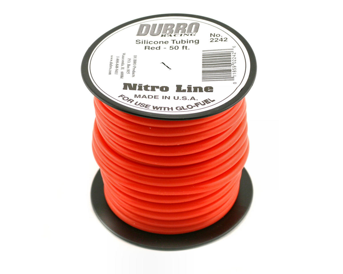 "DuBro ""Nitro Line"" Silicone Fuel Tubing (Red) (50') 