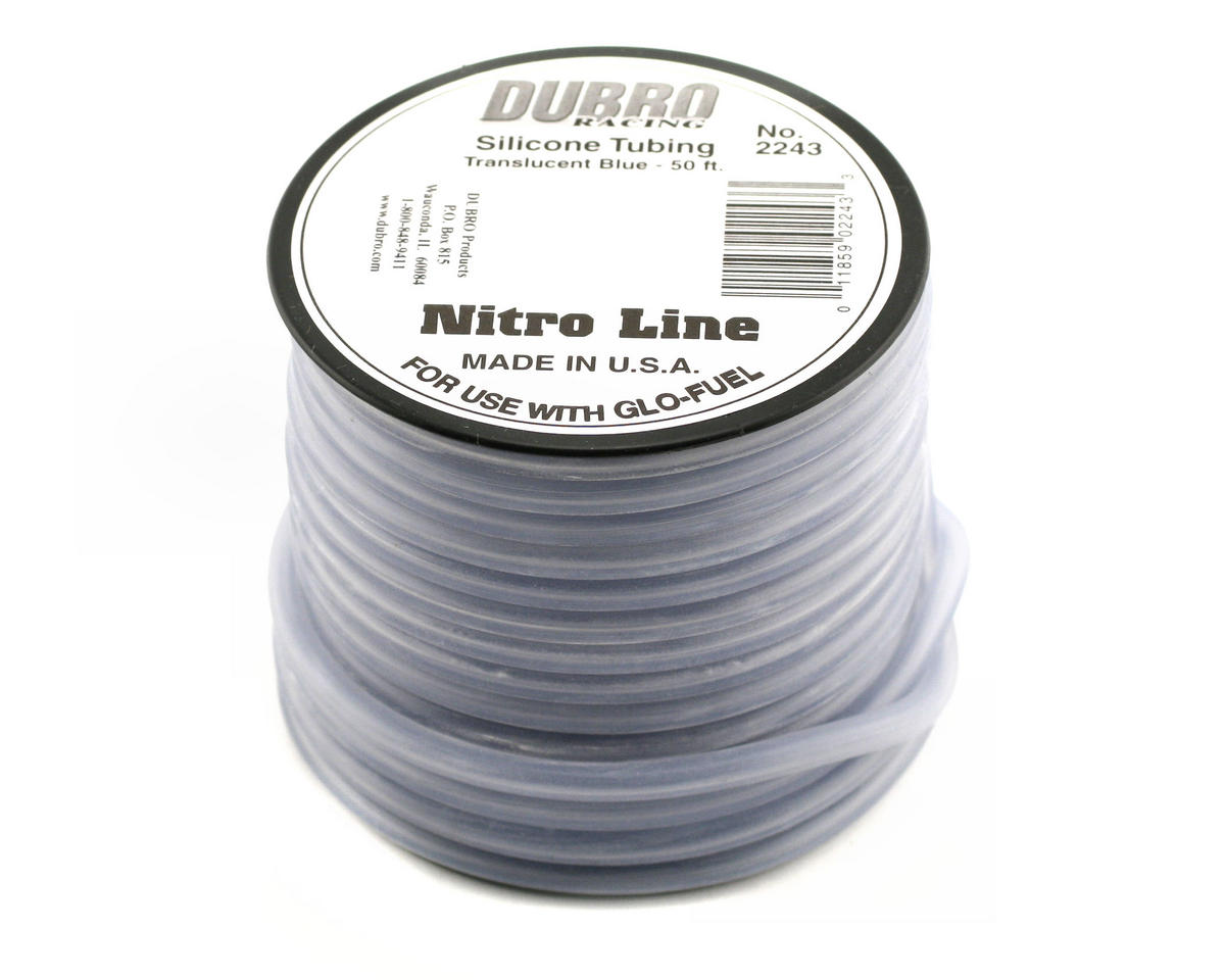 """Nitro Line"" Silicone Fuel Tubing (Blue) (1524cm) by DuBro"