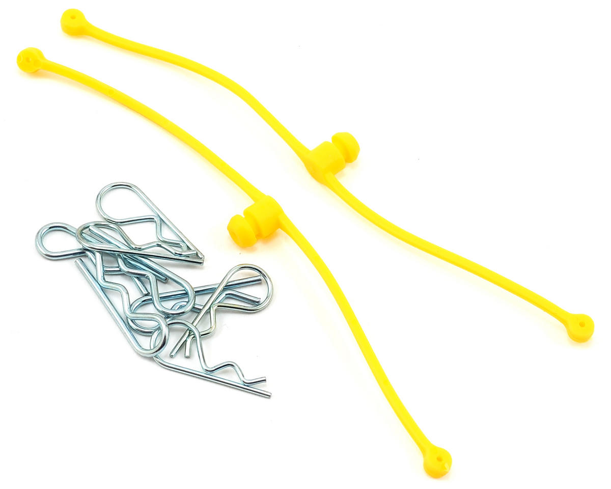 Body Klip Retainers w/Body Clips (Yellow) by Du-Bro