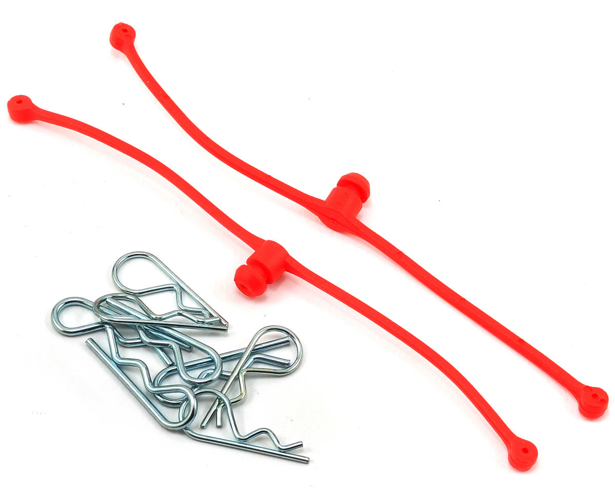 Body Klip Retainers w/Body Clips (Red) by Du-Bro