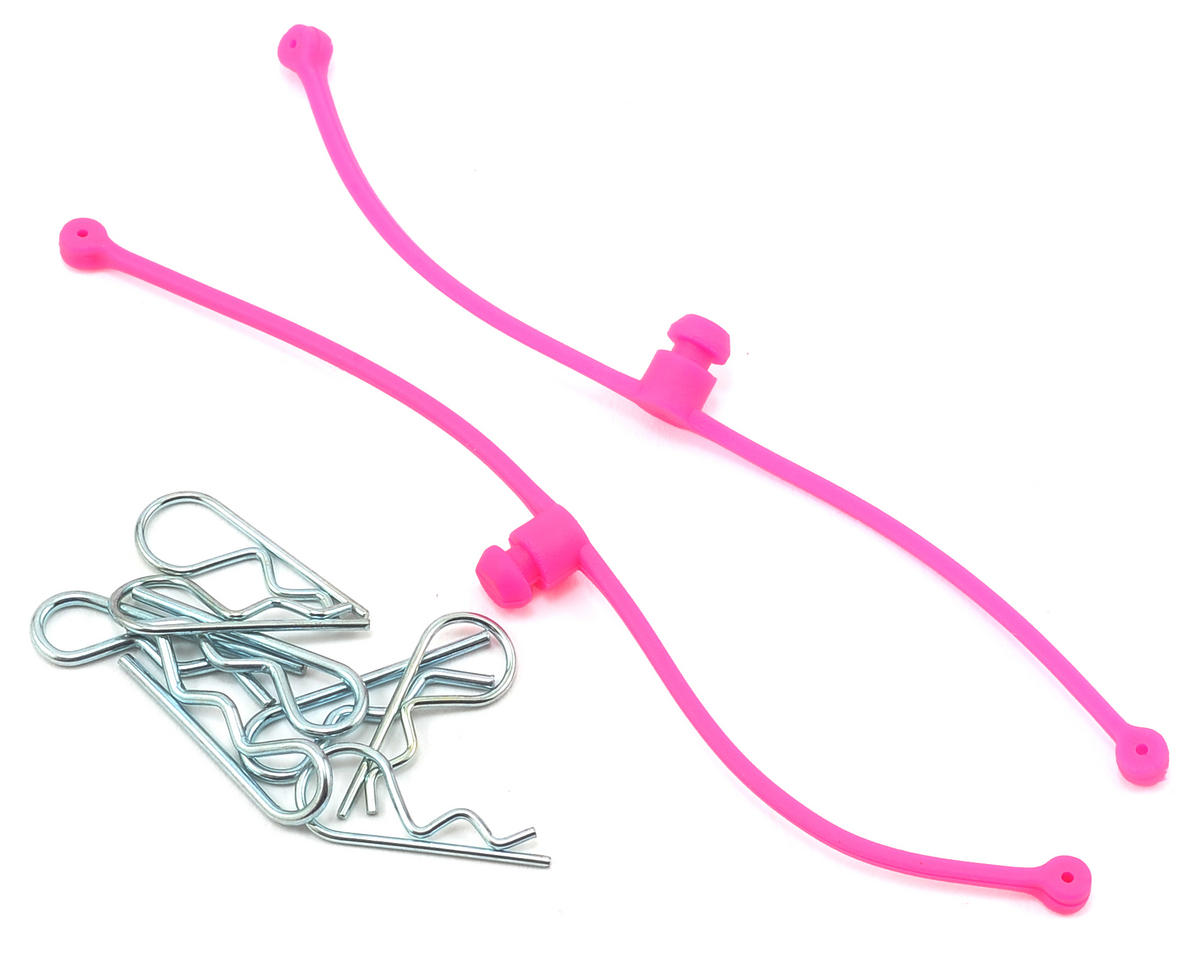 Body Klip Retainers w/Body Clips (Pink) by DuBro