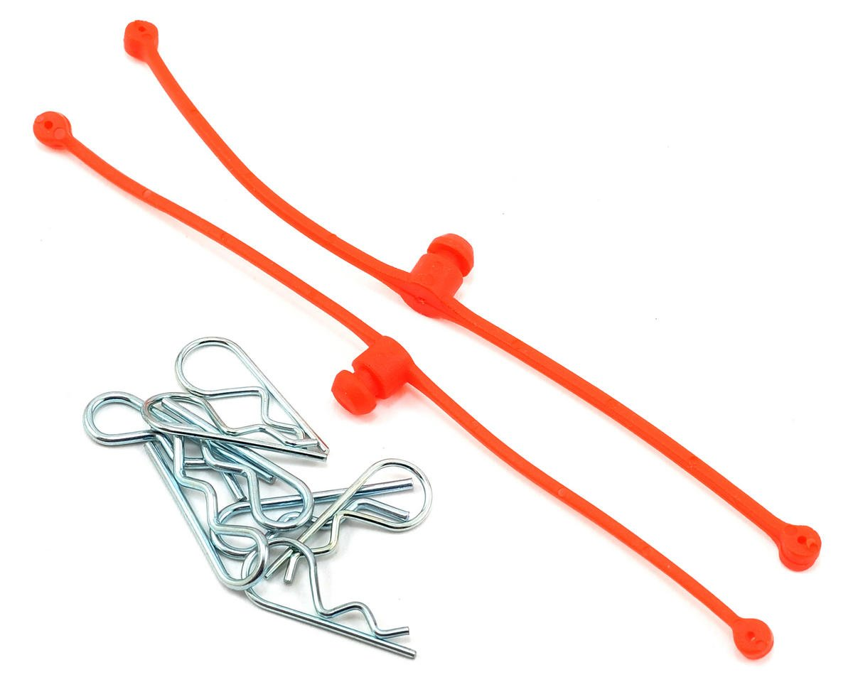 Du-Bro Body Klip Retainers w/Body Clips (Orange)