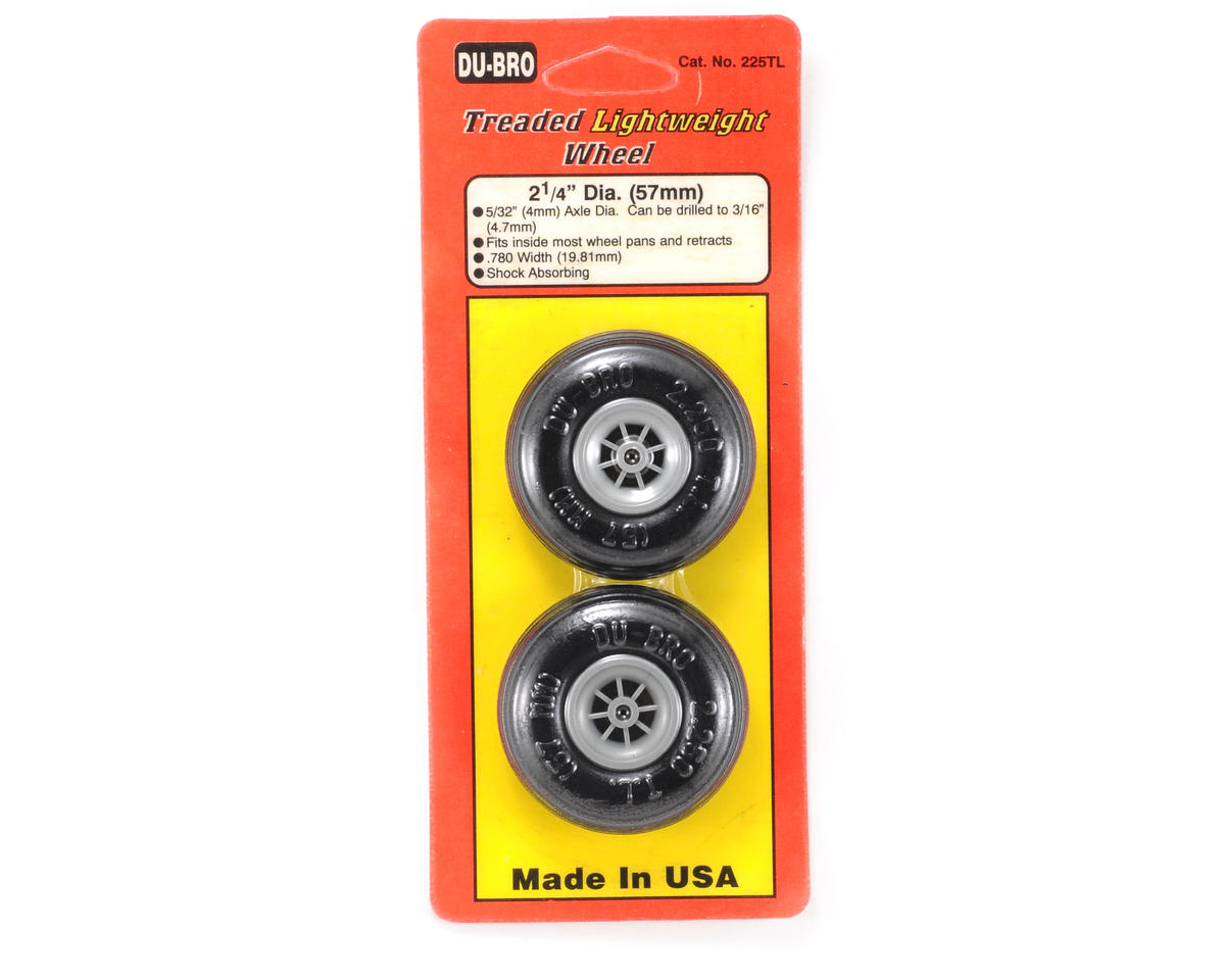 "Du-Bro 2-1/4"" Treaded Lite Wheels (2)"