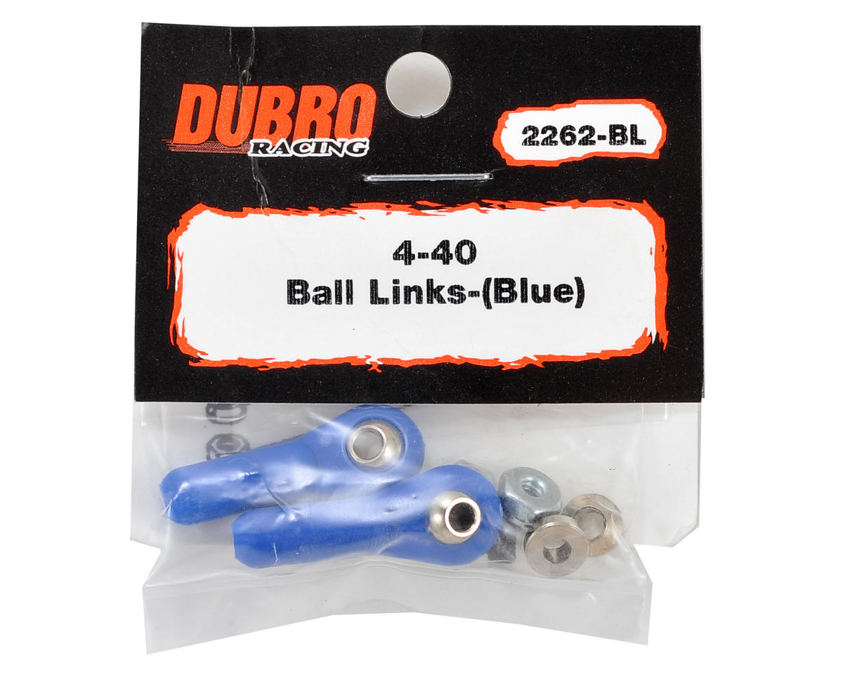 DuBro 4-40 Heavy Duty Ball Link (Blue) (2)