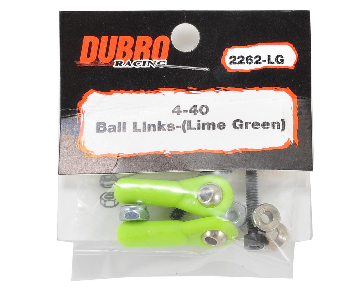 Du-Bro 4-40 Heavy Duty Ball Link (Green) (2)