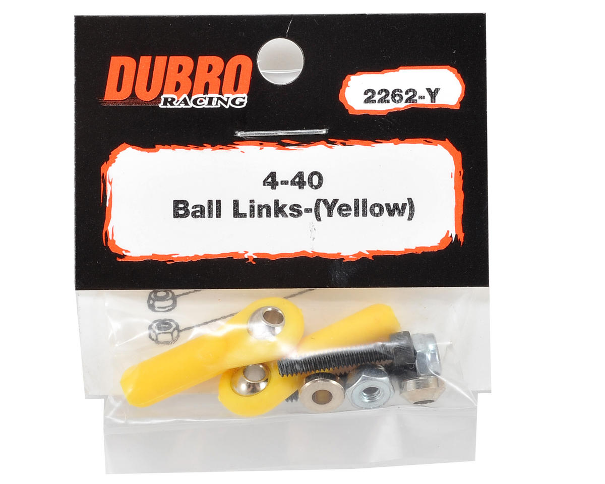 Du-Bro 4-40 Heavy Duty Ball Link (Yellow) (2)