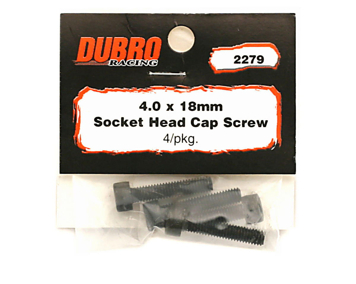 DuBro 4x18mm Socket Head Cap Screws (4)