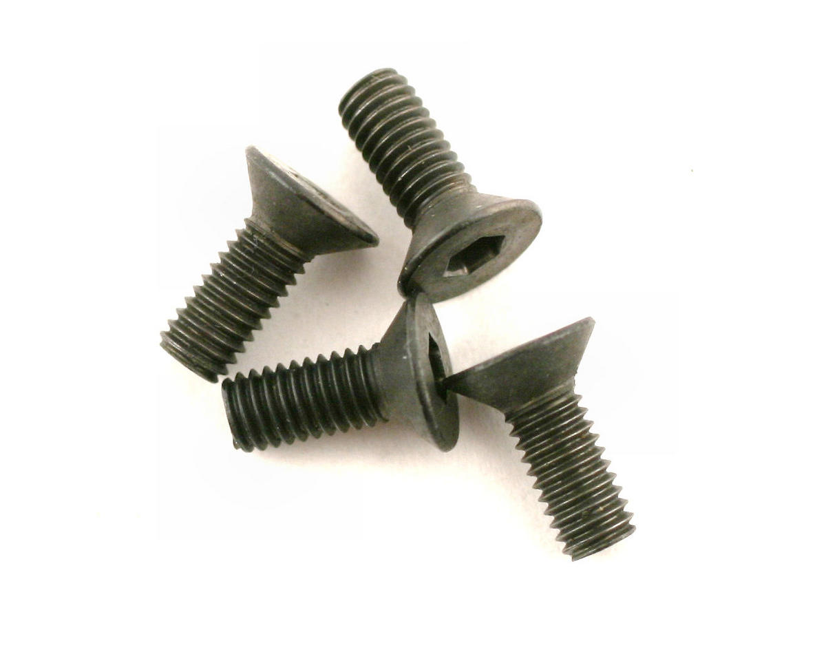 DuBro 3x8mm Flat Head Socket Screws (4)