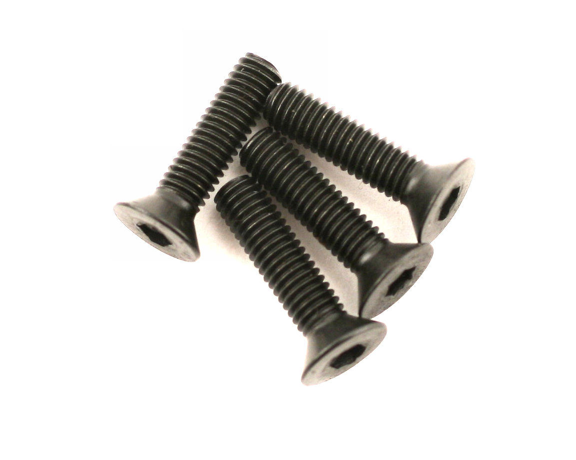 DuBro 3x12mm Flat Head Socket Screws (4)