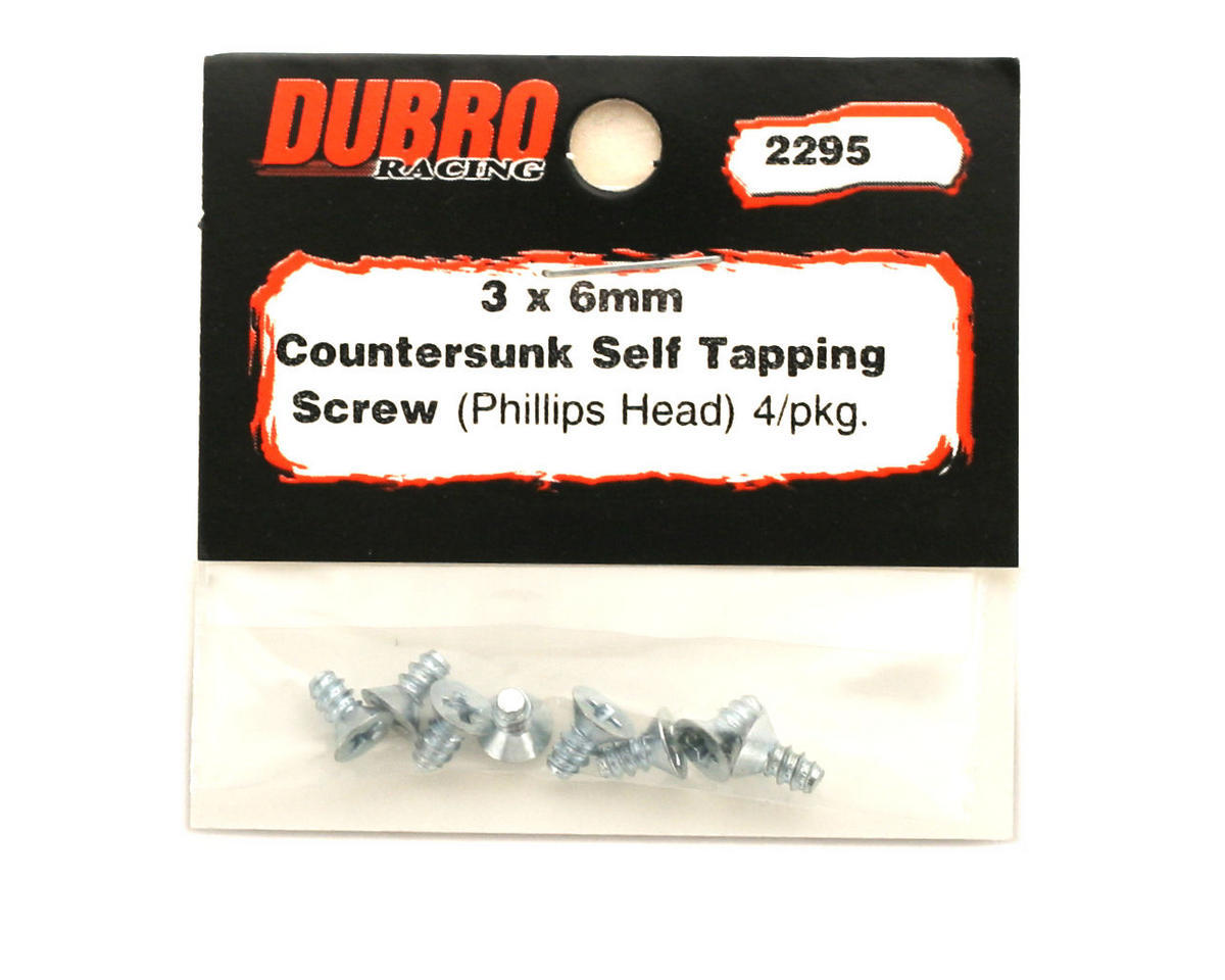 DuBro 3x6mm Flat Head Selftap Screws (8)