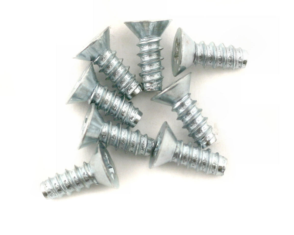Image 1 for DuBro 3x8mm Flat Head Selftap Screws (8)