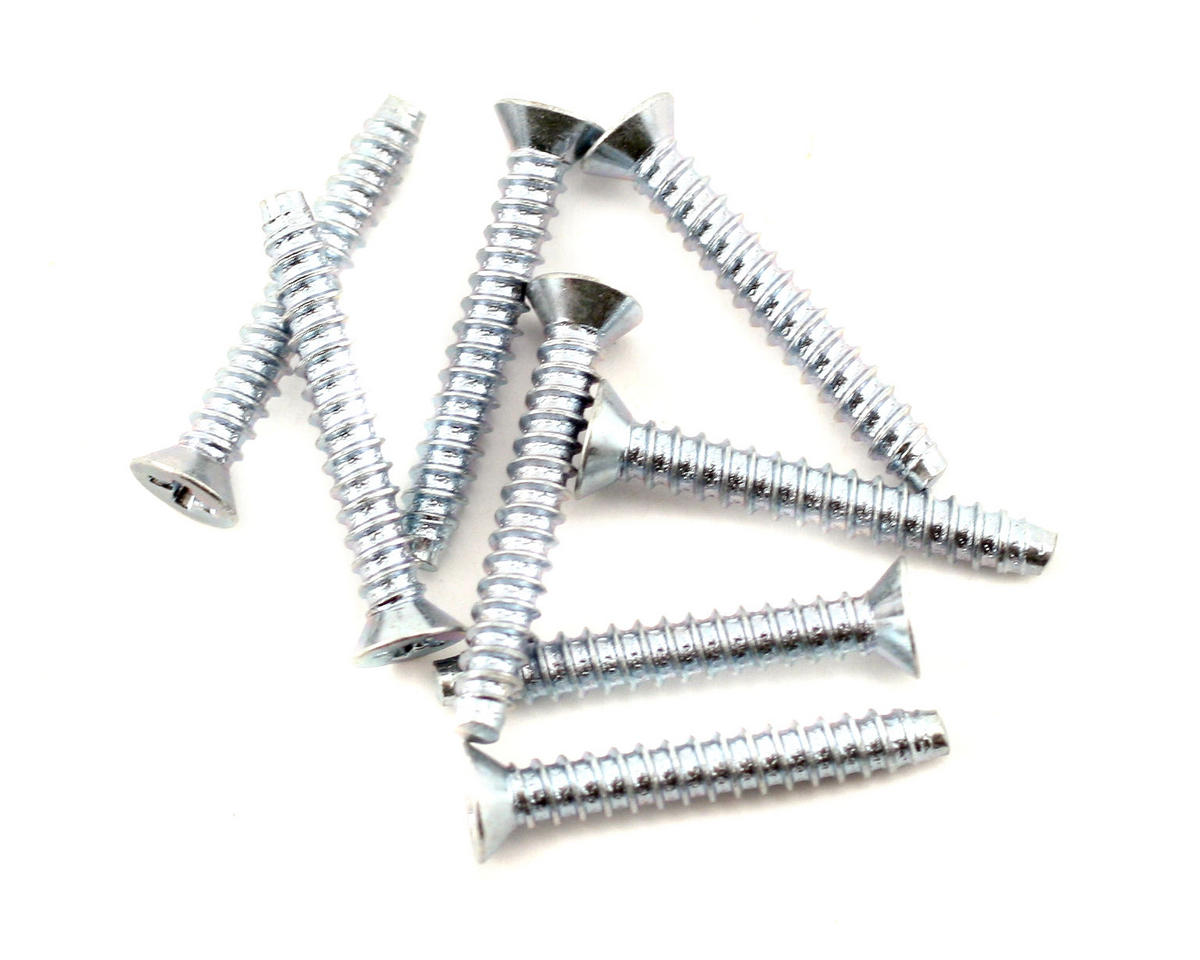 Du-Bro 3x20mm Flat Head Selftap Screws (8)