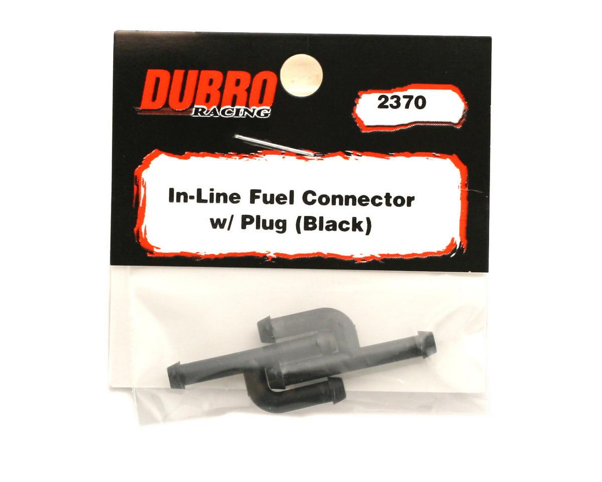 Du-Bro In-Line Fuel Connector w/Plug (2) (Black)