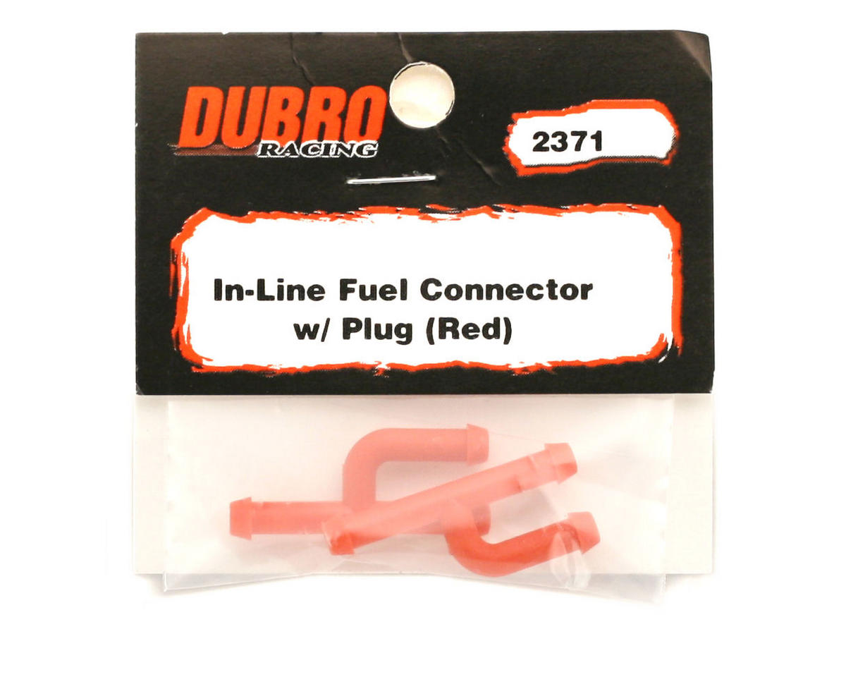 Du-Bro In-Line Fuel Connector w/Plug (2) (Red)