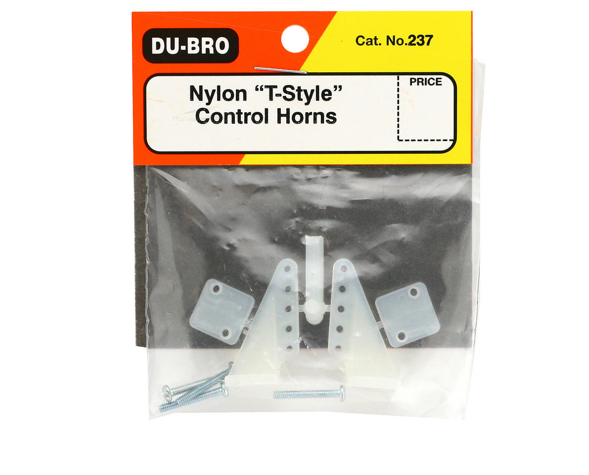 Image 2 for DuBro T-Style Nylon Control Horns (2)