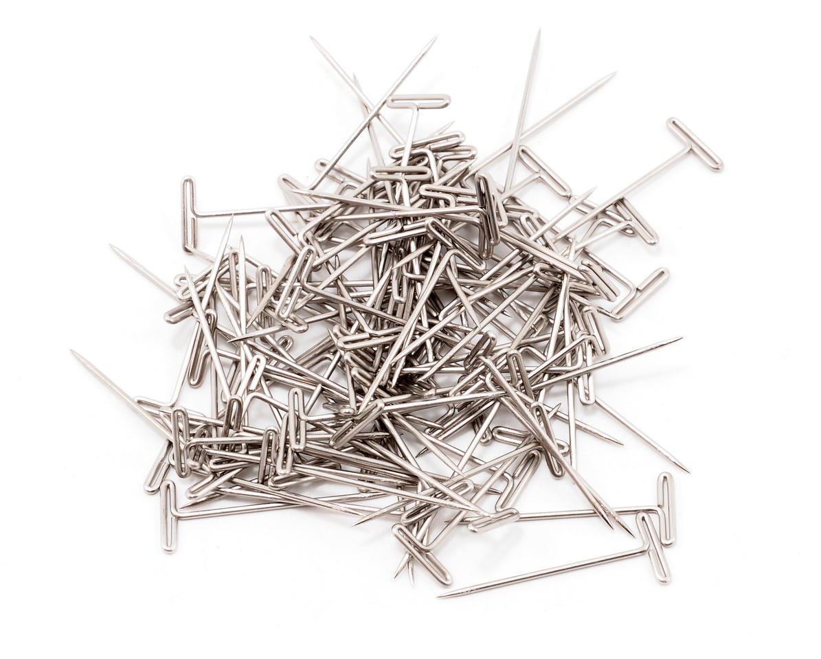 "1"" Nickel Plated T-Pins (100) by DuBro"