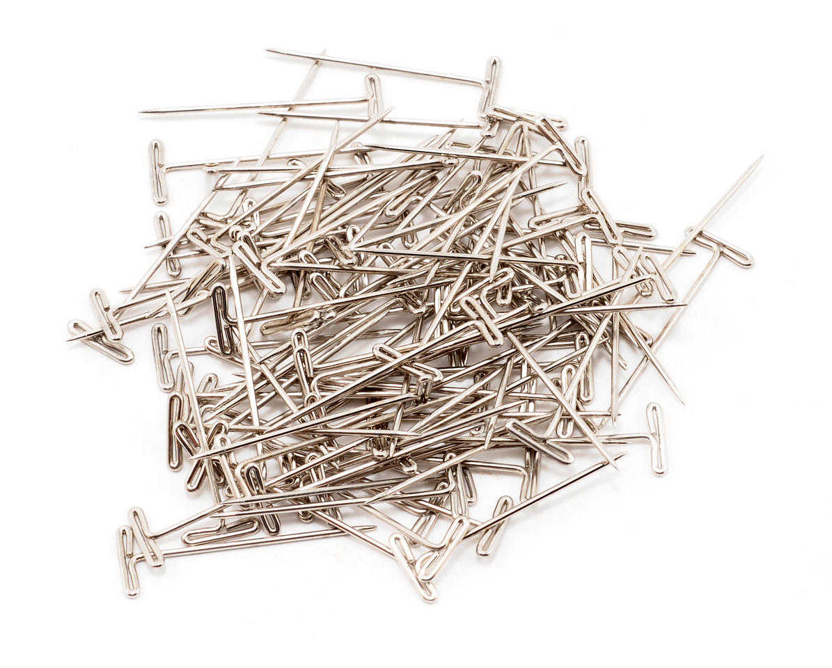 "DuBro 1-1/4"" Nickel Plated T-Pins (100)"