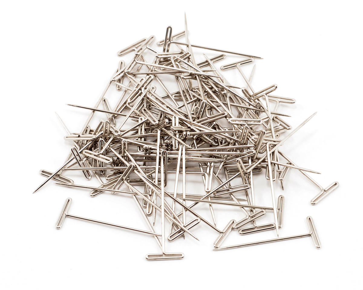 "Du-Bro 1-1/2"" Nickel Plated T-Pins (100)"