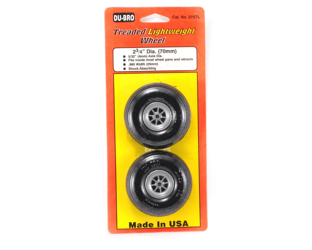 "Du-Bro 2-3/4"" Treaded Lite Wheels (2)"