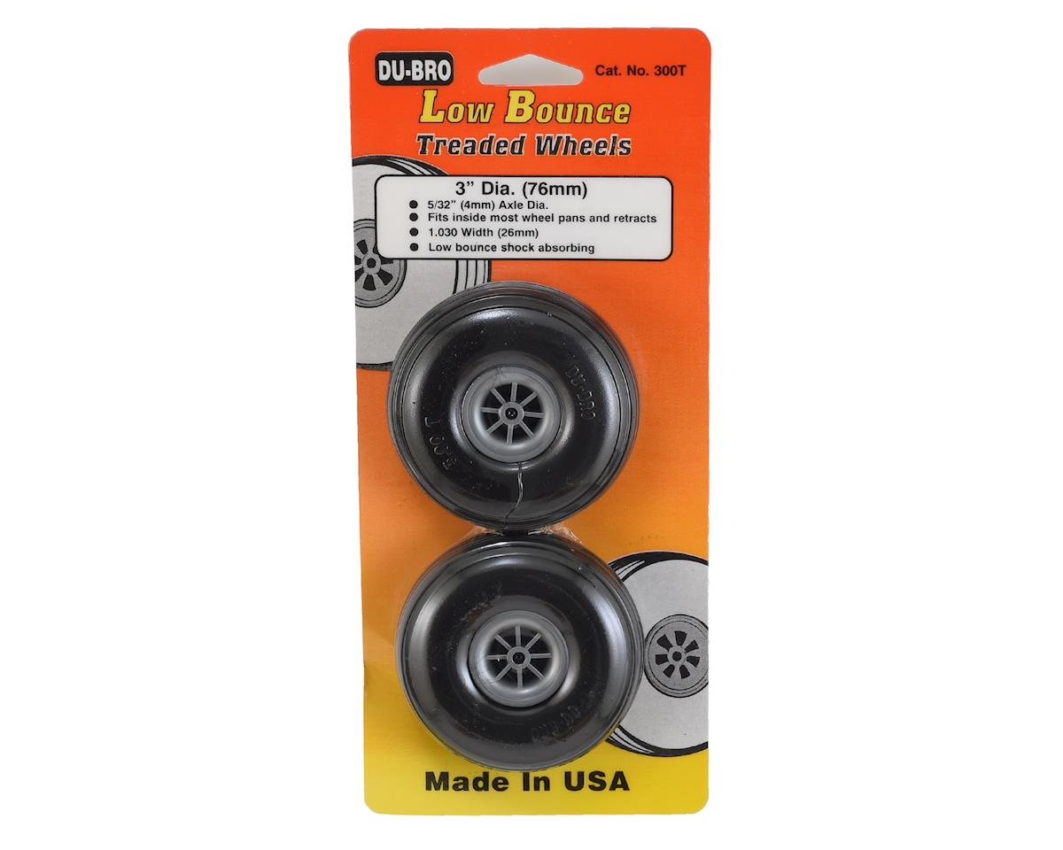 "3"" Treaded Low Bounce Wheels (2) by DuBro"