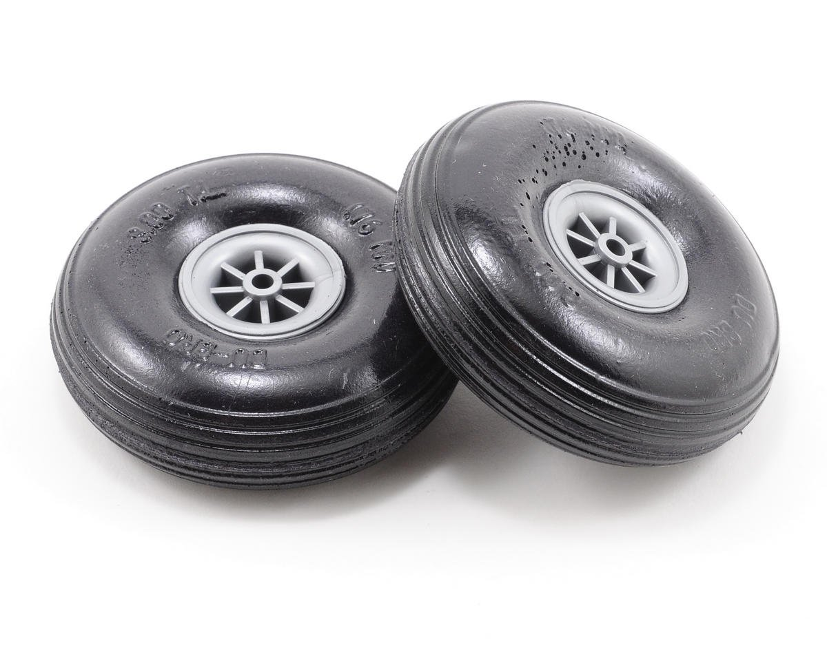 "3"" Treaded Lite Wheels (2) by DuBro"