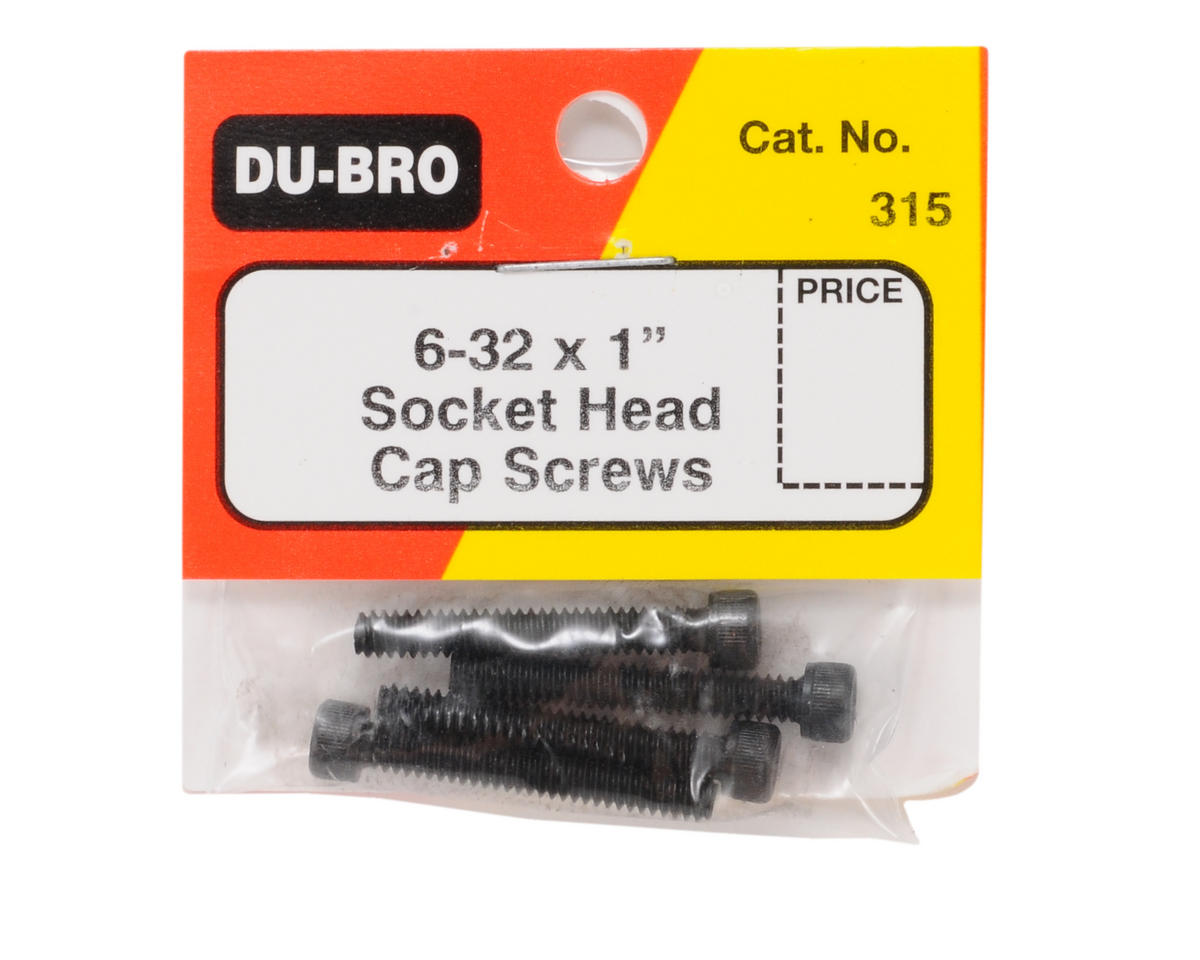 "DuBro 6-32 x 1"" Socket Head Cap Screws (4)"