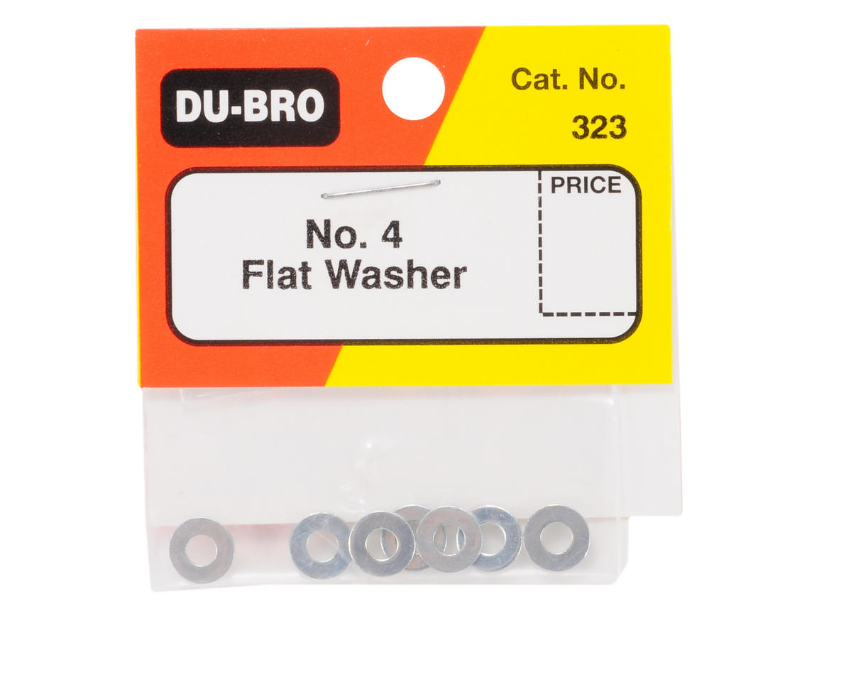 DuBro #4 Flat Washer (8)