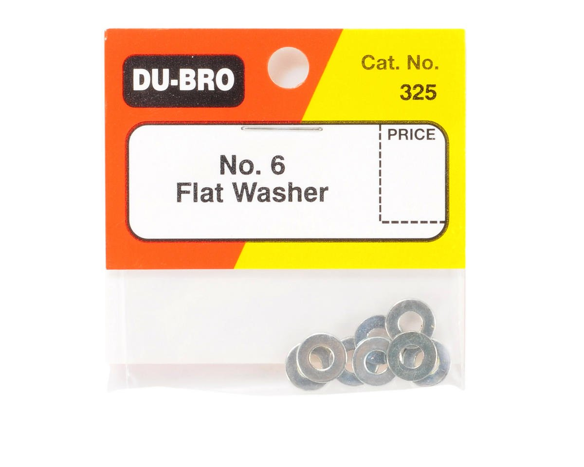 DuBro #6 Flat Washer (8)