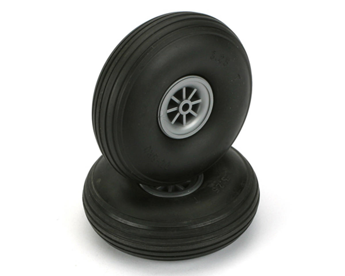"3-1/4"" Treaded Wheels (2) by DuBro"