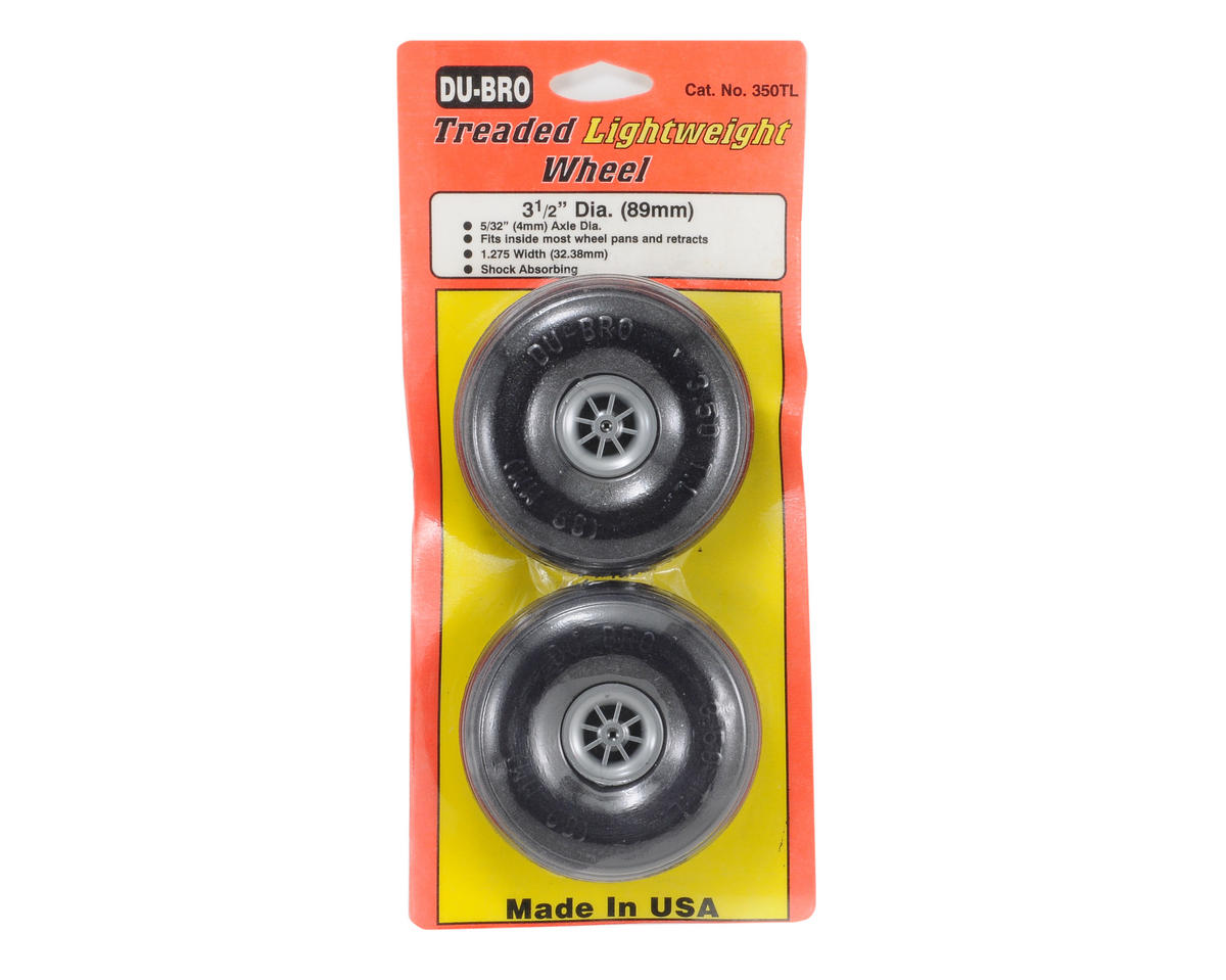 "Du-Bro Treaded Lite Wheels (3 1/2"")"