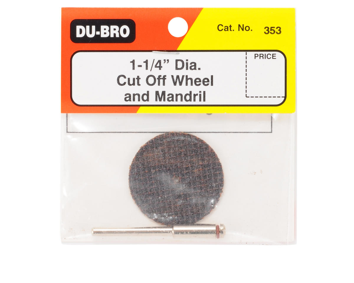 "DuBro 1-1/4"" Cut Off Wheel w/Mandrill"