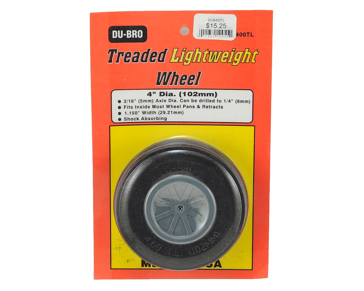 "4"" Treaded Lite Wheel by DuBro"