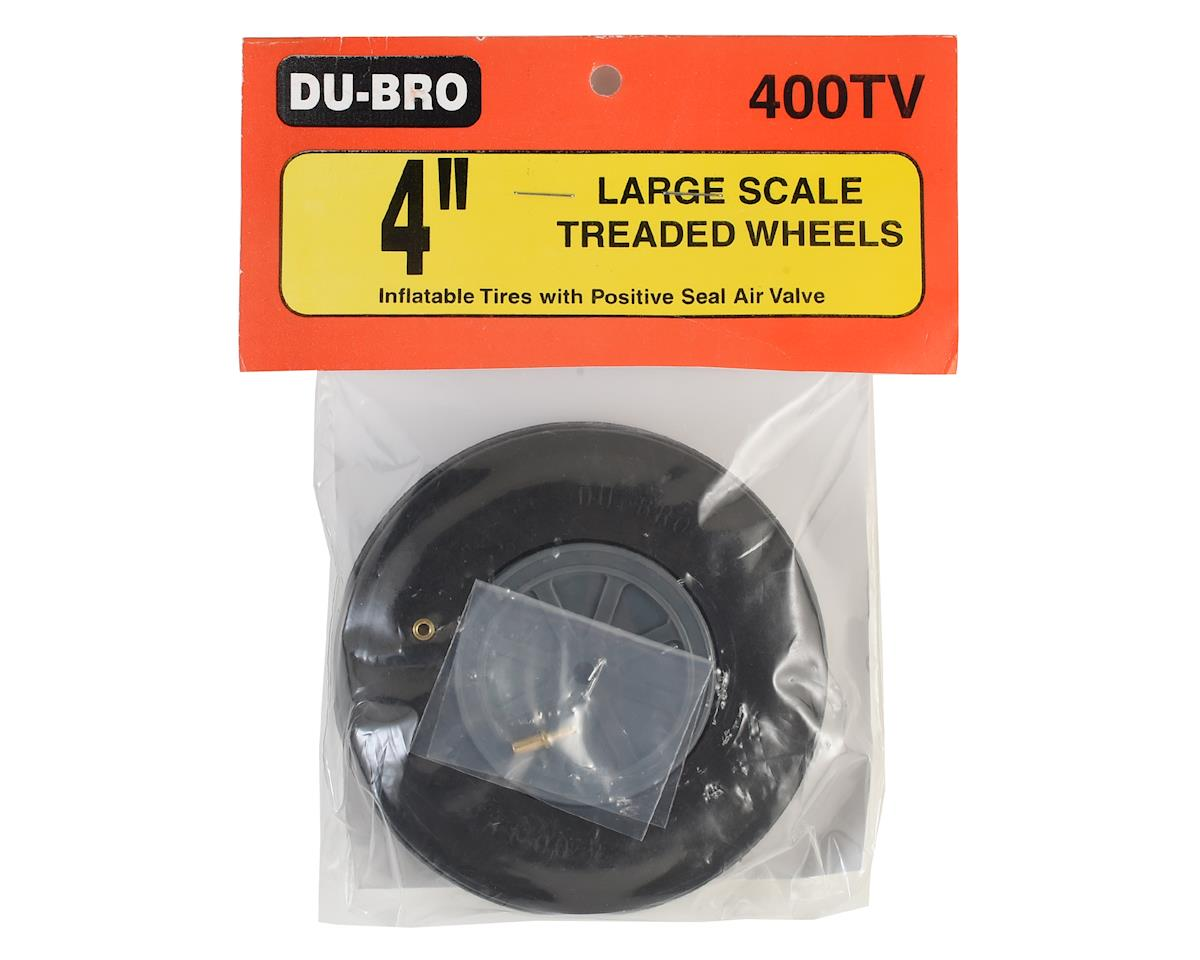 "4"" Large Scale Treaded Wheel by DuBro"