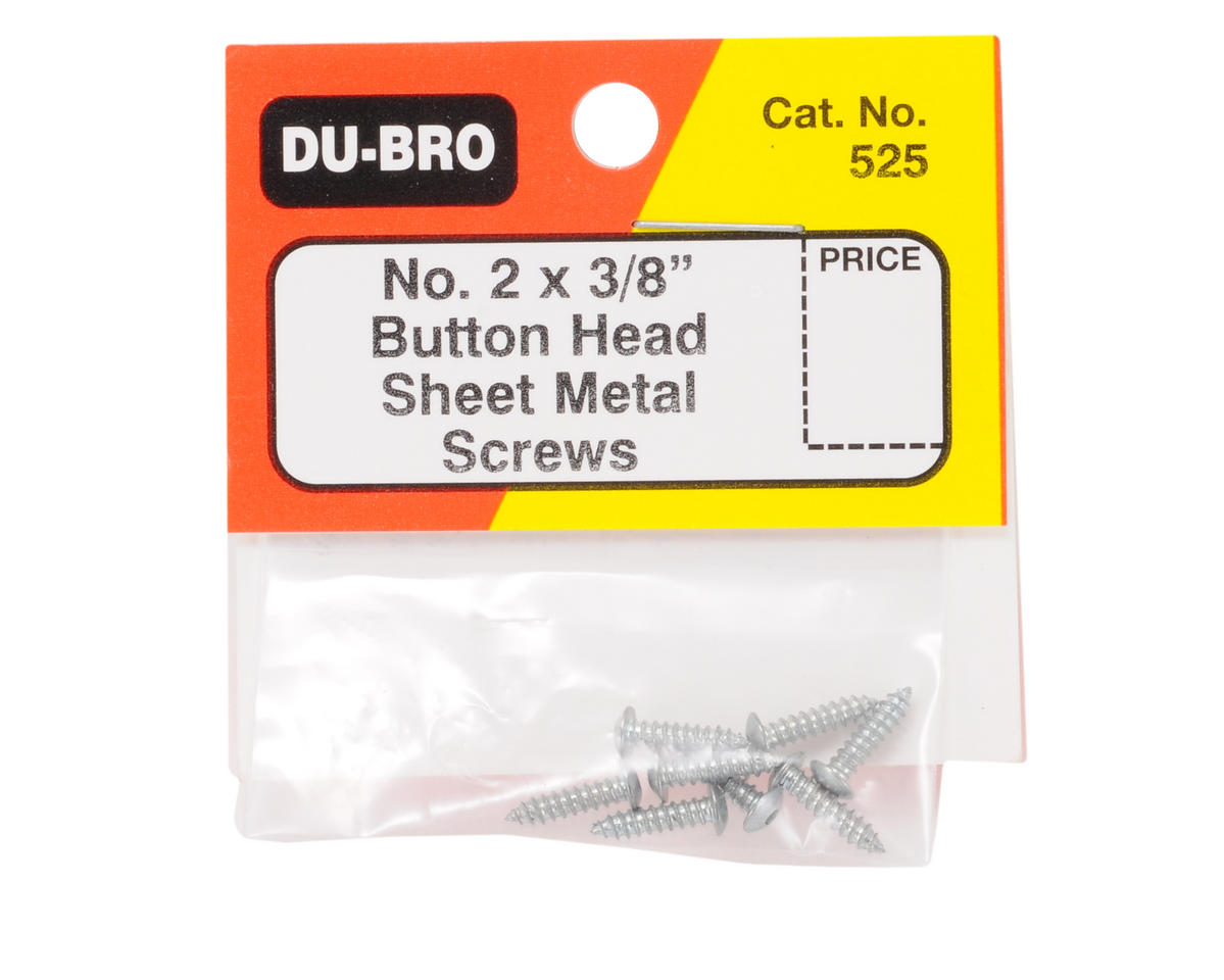 "DuBro 2 x 3/8"" Button Head Screws (8)"